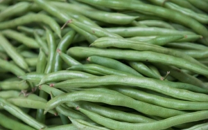 close up photo of raw green beans