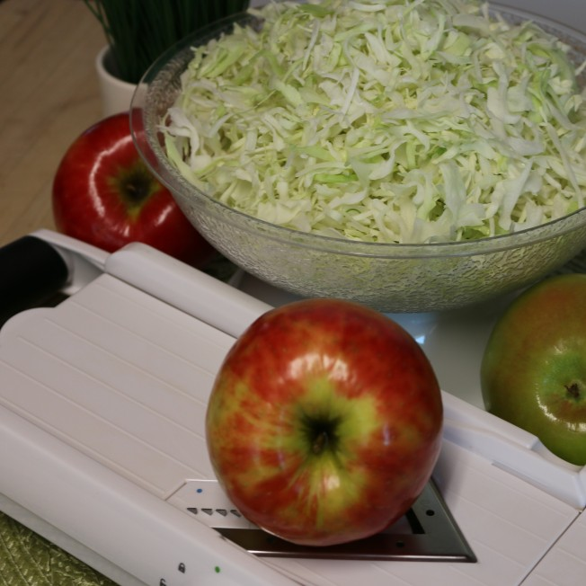 Shredded Cabbage and Apples