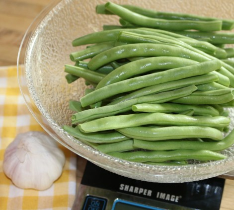 Wash and snap one pound of green beans.