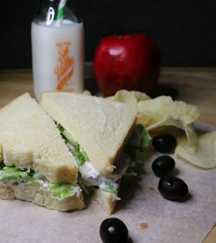 Tuna with Cream Cheese Sandwich.