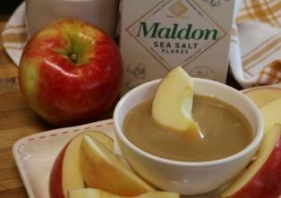 Dip apples and enjoy.
