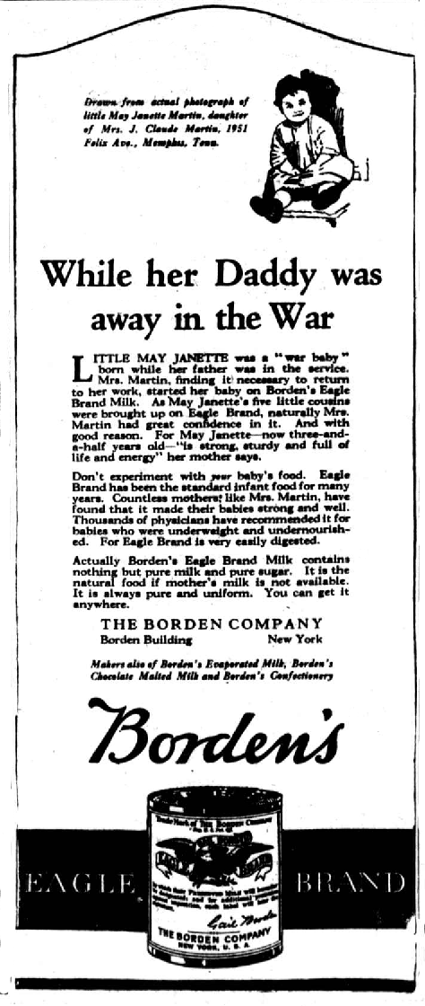 1922_Eagle_Brand_newspaper_ad