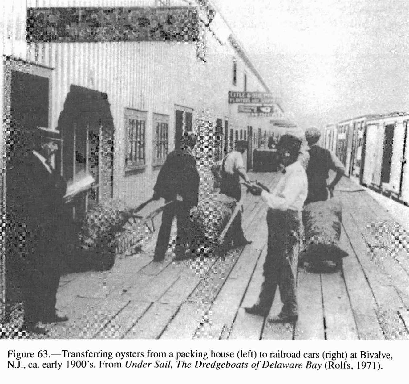 oysters to railcars