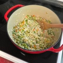 Stir in rice and seasonings.